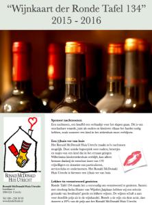 Voorzijde wijnkaart